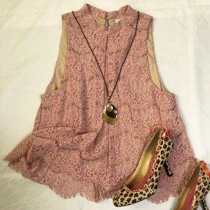 love FIRE lace top